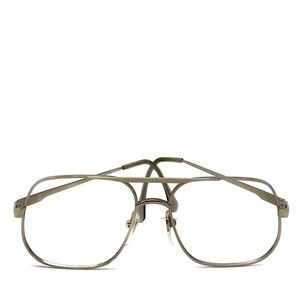 Vintage MASTER Straight Edge Metal Eye Glass Frame